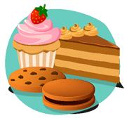 Biscuits, gâteaux, pâtisserie et desserts
