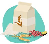 Céréales, farines et graines
