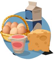 Produits laitiers et oeufs