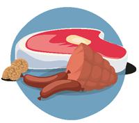 Viande, charcuterie, escargots